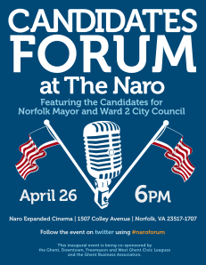 Candidates Forum at the Naro, April 26th, 2010