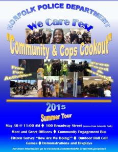 cmty & Cops Cookout poster 2015