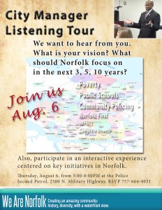 City Manager Listening Tour August 6, 2015