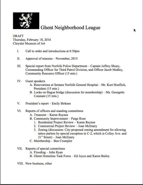 GNL agenda 20160218 DRAFT