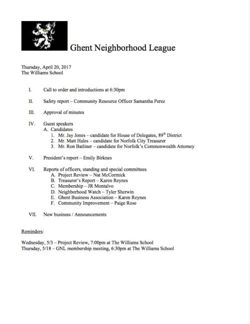 GNL Agenda 20170420